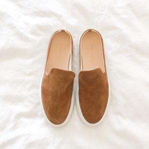 Jenni Kayne Suede Slider Sneakers in Honey